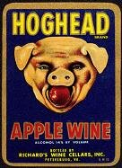 Hoghead Apple Wine Label