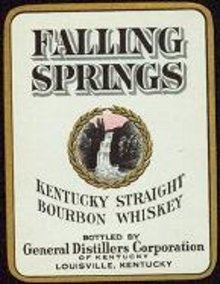 VINTAGE FALLING SPRINGS WHISKEY LABEL