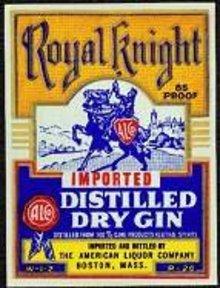 Royal Knight Gin Label
