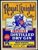 Royal Knight Gin Label