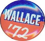 VINTAGE GEORGE WALLACE PINBACK PIN BUTTON