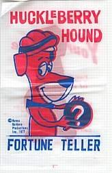 VINTAGE HUCKLEBERRY HOUND FORTUNE TELLER BAG TOY