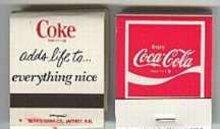 Coca-Cola soda Matchbooks