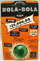 VINTAGE ROLA-BOLA GAME BALL TOY IN BOX