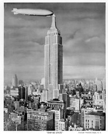 Zeppelin Empire State Building Photo 1931