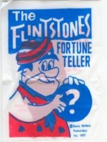 VINTAGE FRED FLINTSTONE FORTUNE TELLER TOY BAGS