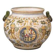 Porcelain Planter Italian Style Faience New