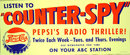 Pepsi Cola Radio Spy Poster 1950s