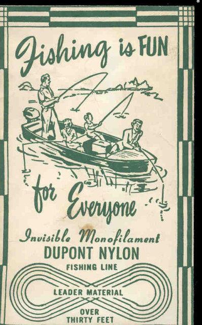 VINTAGE DUPONT NYLON FISHING LINE IN PACK