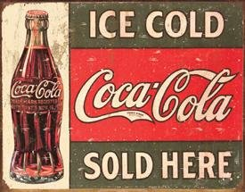 COCA COLA BOTTLE SODA TIN SIGN REPRODUCTION NEW