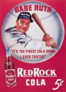 BABE RUTH RED ROCK SODA TIN SIGN REPRODUCTION NEW