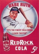BABE RUTH RED ROCK SODA TIN SIGN REPRODUCTION
