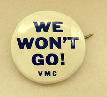 Vietnam Protest Pinback We Won't Go