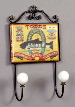 TODD'S SALMON KITCHEN WALL HOOK PLAQUE