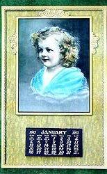 Vintage 1913 Calendar - Baby Mine