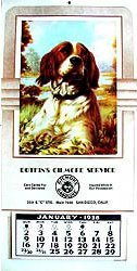 Botkins GIlmore Dog Calendars 1938-1942