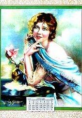 1923 Charming Calendar - Vintage
