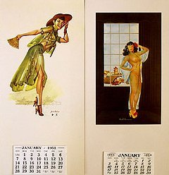 China Pinup Calendars 1950s