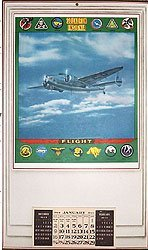 VINTAGE WORLD WAR II ARMY AIR CORPS CALENDAR