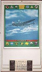 VINTAGE WORLD WAR II ARMY AIR CORPS CALENDAR