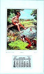 Swimming Hole Calendar 1927