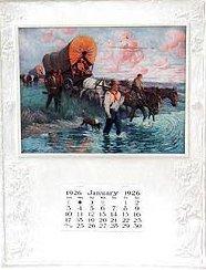 VINTAGE 1926 COVERED WAGON CALENDAR
