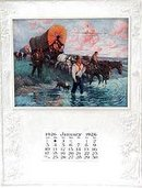 VINTAGE 1926 COVERED WAGON CALENDAR