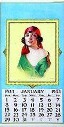 1930 Marchetta Gypsy Lady Calendar