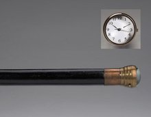 Clock Walking Cane Stick - Brass