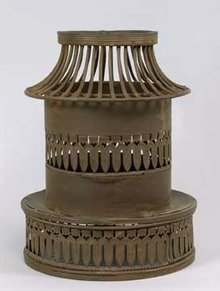 METAL CONTEMPORARY PILLAR CANDLE HOLDER / NEW