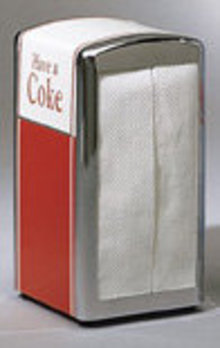 COCA COLA SODA NAPKIN HOLDER / DINER / NEW
