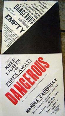 VINTAGE 1960S CHESSIE RAILROAD DANGER WARNING SIGN