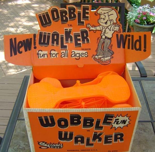 VINTAGE 1950s WOBBLE WALKERS TOY STORE DISPLAY