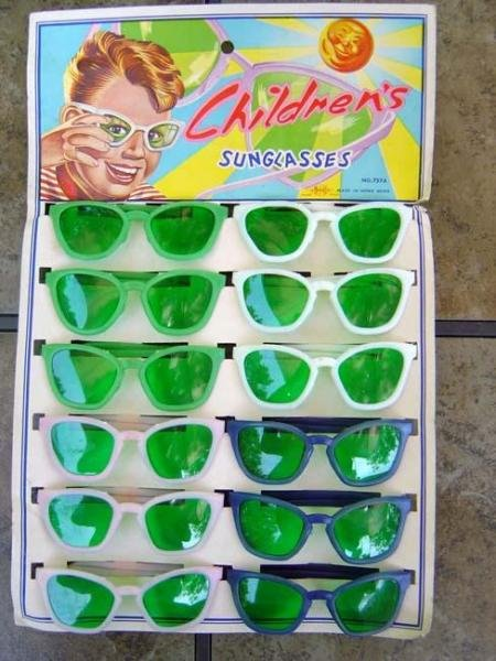 VINTAGE 1960S CHILDREN'S GREEN SUNGLASS STORE