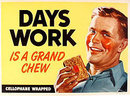 1949 VINTAGE DAYS WORK CARDBOARD STORE SIGN