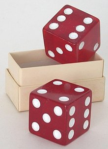Jumbo Bakelite Dice in Original Box