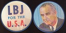 VINTAGE LBJ FOR PRESIDENT FLICKER DISCS 1964