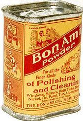 VINTAGE 1940S BON AMI POLISHING TIN
