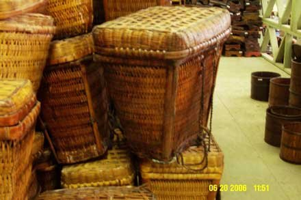 VINTAGE CHINESE WICKER LUNCH BACK PACK