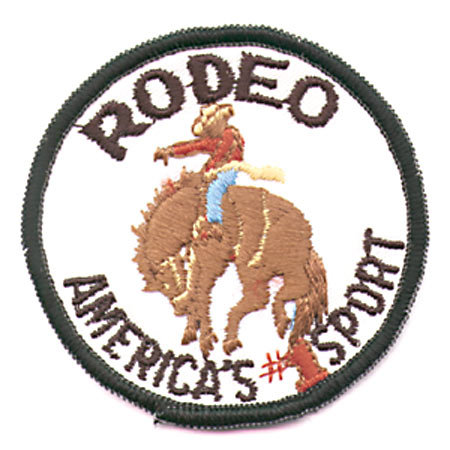 4 VINTAGE 1950S RODEO COWBOY PATCHES AND PINS
