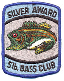 4 VINTAGE BASS FISHING PATCHES NOS 1960S