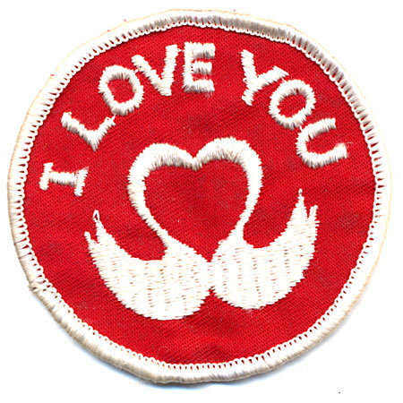3 VINTAGE HIPPIE LOVE PATCHES NOS 1960S
