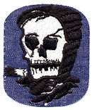 3 VINTAGE SKELETON SCARY PATCHES / HALLOWEEN