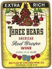 Three Bears Wine Label