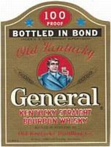 General Whiskey Kentucky Label
