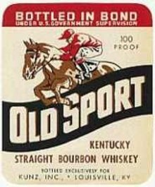 Old Sport Jockey Kentucky Whiskey Labels