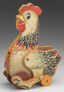 Rooster Pull Toy - reproduction