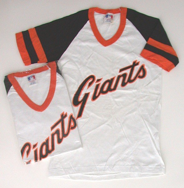 VINTAGE MLB GIANTS BASEBALL CHILDS SHIRT M L