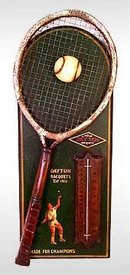 TENNIS THERMOMETER PLATE / NEW
