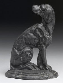 CAST IRON DOG STOP / HOUND